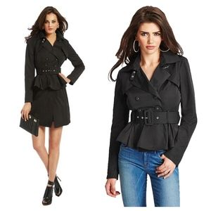 marciano • avani convertible belted trench coat